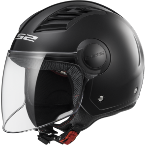 Casco Airflow Solid Gloss, negro