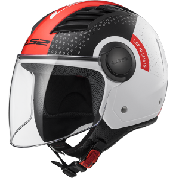 Casco Airflow Condor, blanco negro y rojo