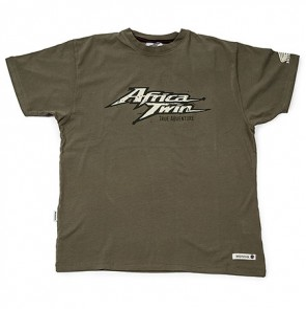 Camiseta Vintage Africa Twin. Verde oliva