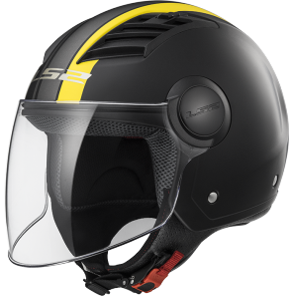 Casco Airflow Metropolis Matt, negro y amarillo